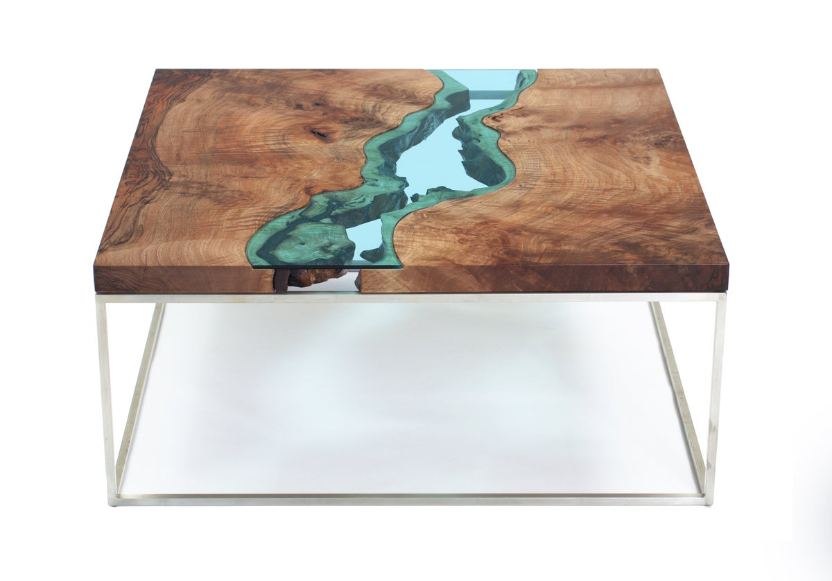 Square Walnut River Coffee Table Greg Klassen