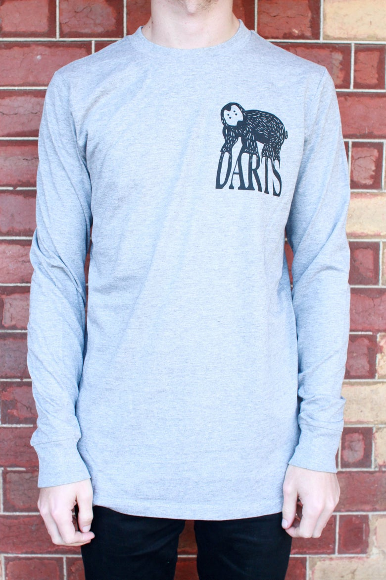 Image of Grey Long Sleeve Darts Tee