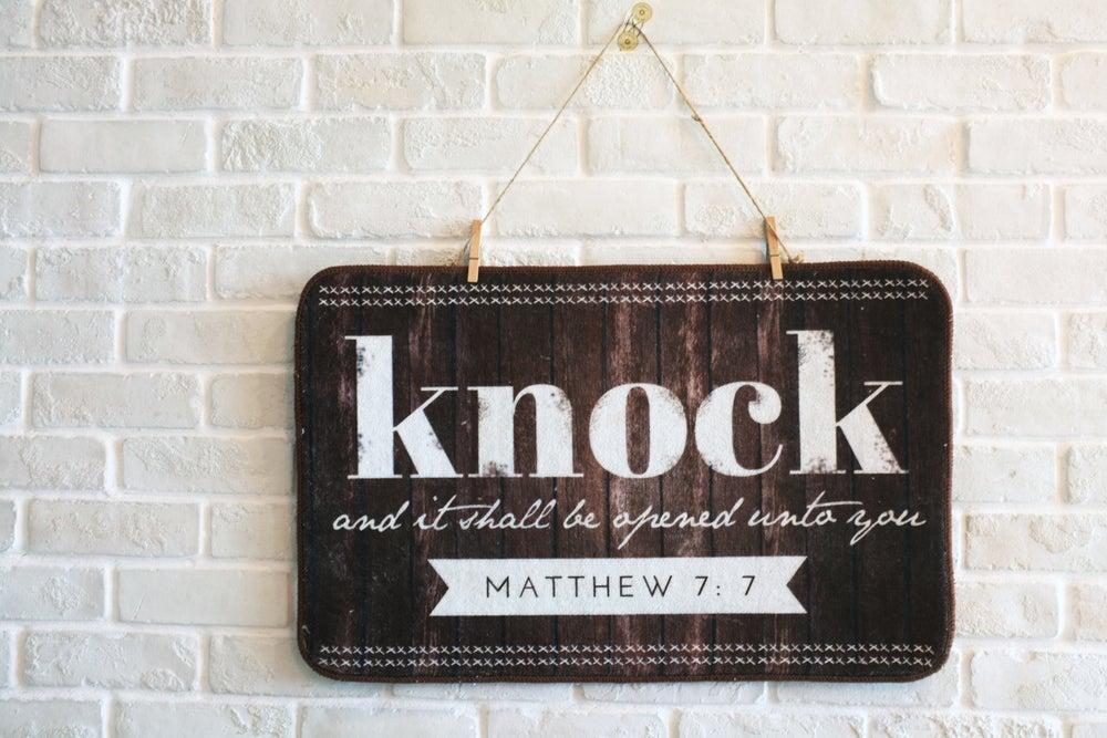 Image of Knock on the Door Mat