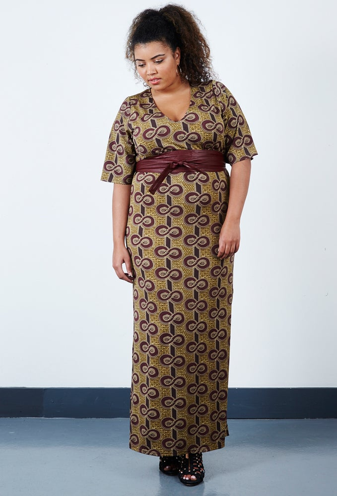 Image of Anna Scholz Print Crepe Jersey Maxi Dress