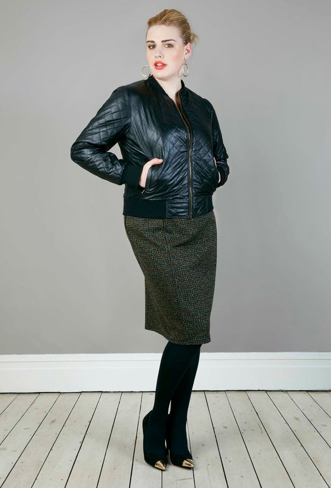 Image of Anna Scholz Quilted Bomber Jacket