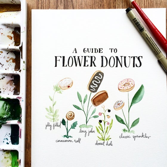 Image of Flower donuts