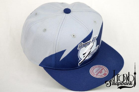 Image of TAMPA BAY LIGHTENING MITCHELL & NESS SHARKTOOTH SNAPBACK