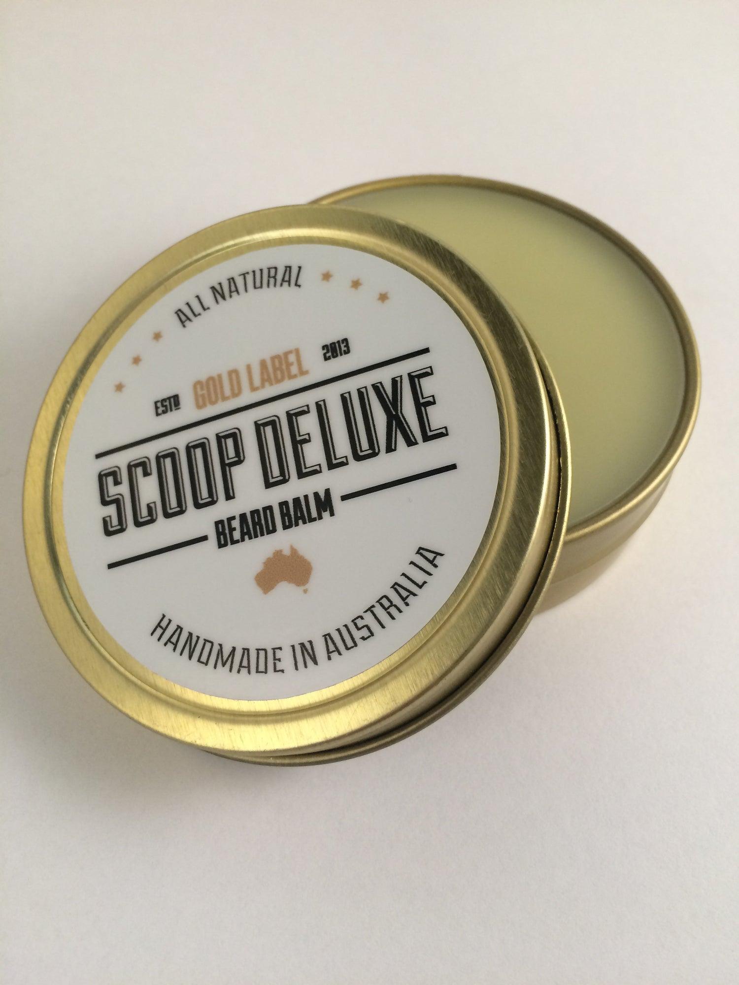 Image of 2oz Scoop Deluxe Beard Balm Gold Label