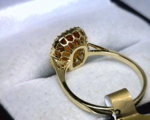 Image of 18K Yellow Gold Citrine / Diamond Ring
