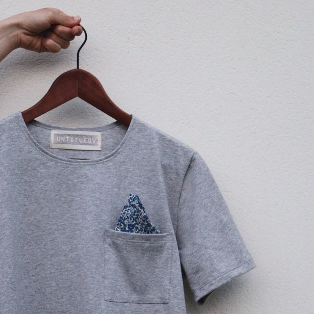 Image of untitleDV t-shirt with Liberty London fabric