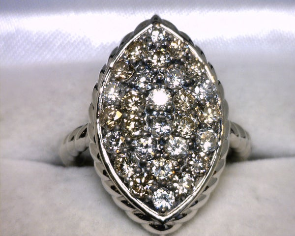Image of 14K White Gold Diamond Ring 1.60CT
