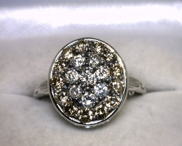 Image of 14K White Gold Diamond Ring 1.25CT