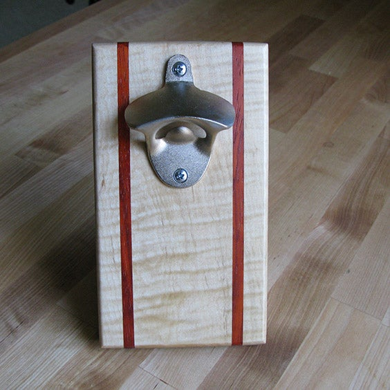 Image of Maple and padauk magnetic bottle opener