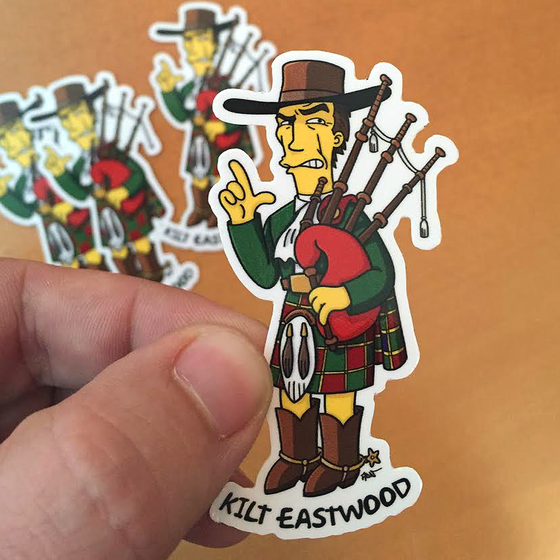 Image of Kilt Eastwood stickers (4)