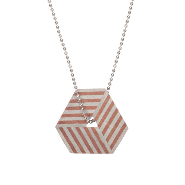 Image of Necklace 'Ply / Hexagon'
