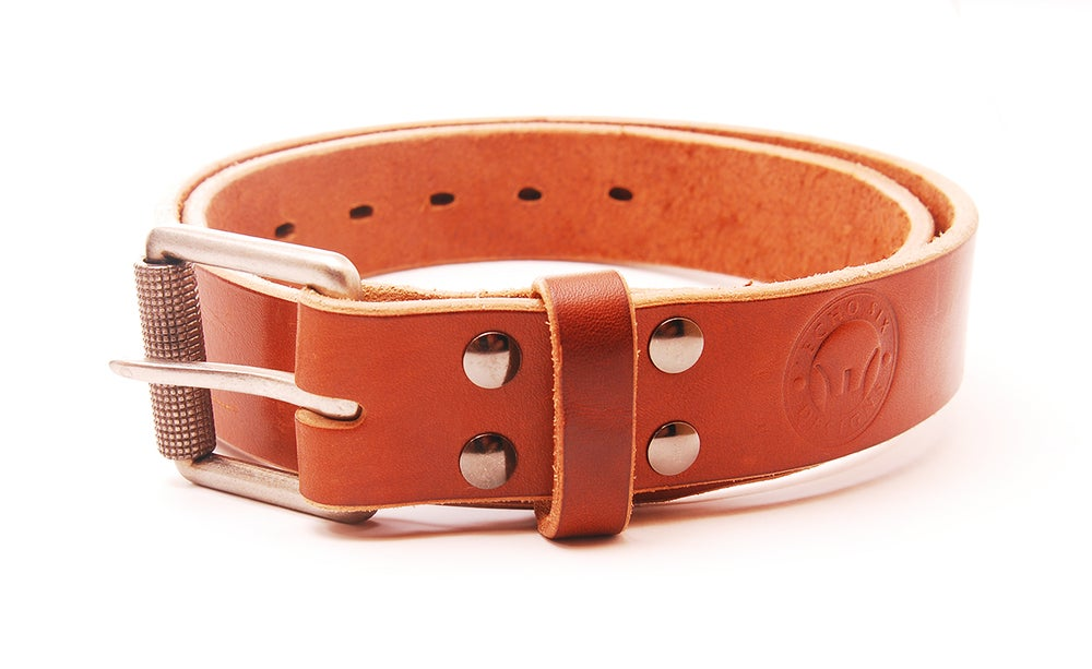 "Image of The Intrepid. Full Grain Heavy Duty Leather 1.5"" Belt."