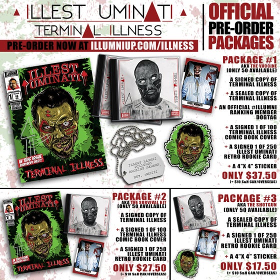 Image of ILLEST UMINATI - TERMINAL ILLNESS *PRE-ORDER PACKAGES*