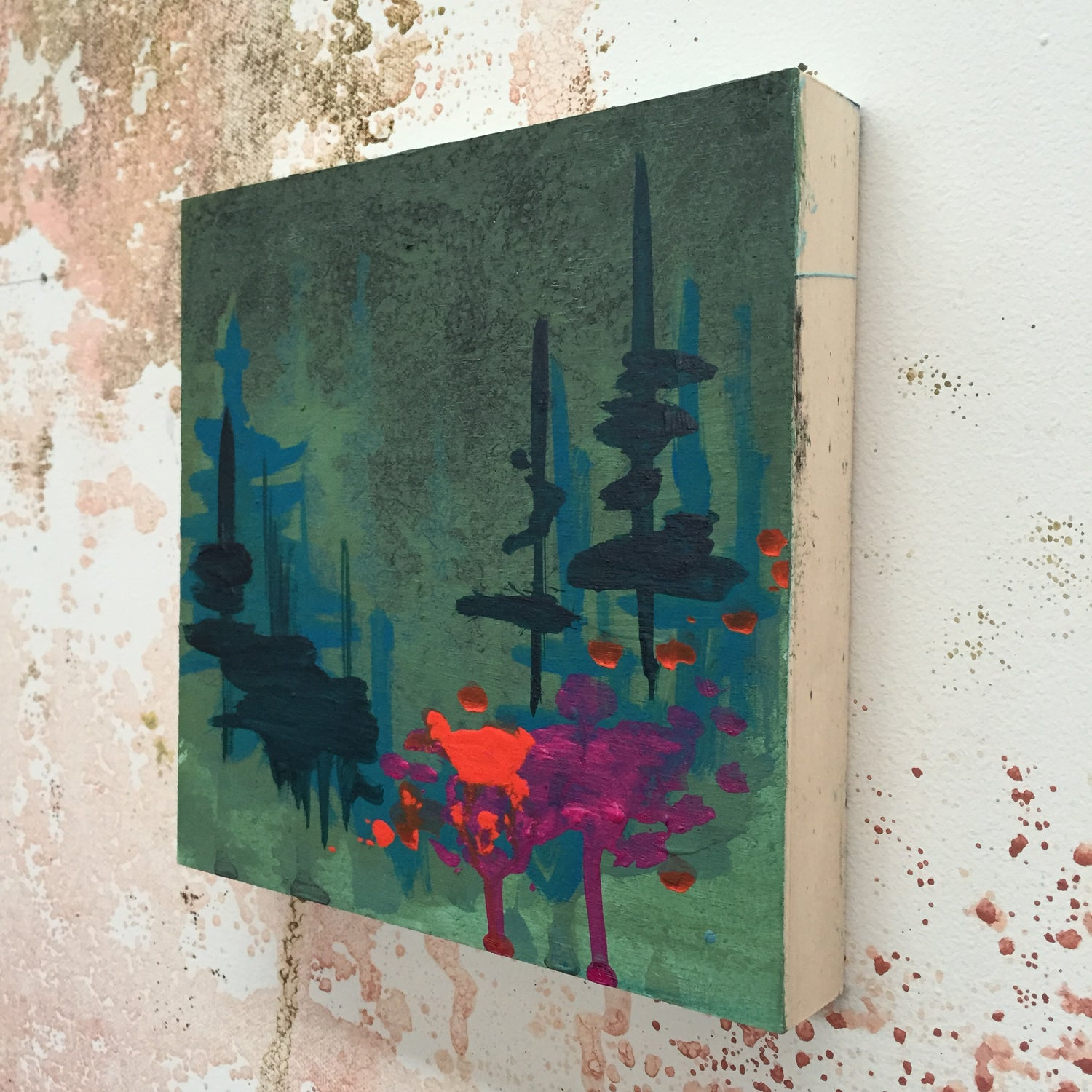 Image of Tiny Painting No. 4 (sap green, violet)