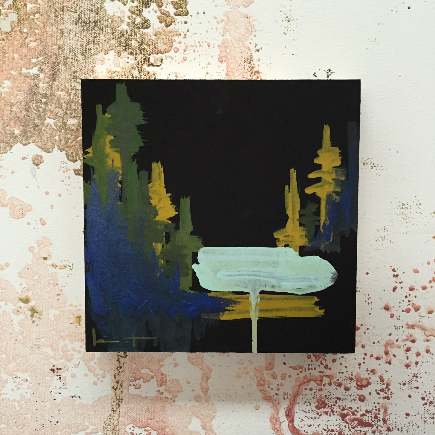 Image of Tiny Painting No. 3 (black, green)