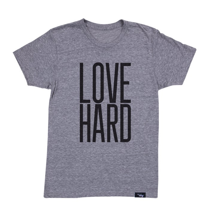 Image of Love Hard Tee (Athletic Grey)