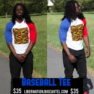 Image of Baseball Tee (blue n Red)