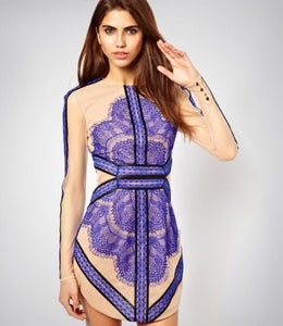 Image of CUTE HOT LACE HANDMADE TOTEM DRESS
