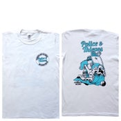 Image of POLICE & THIEVES TNC SURF DESIGN TRIBUTE -WHITE
