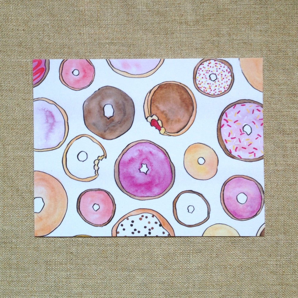 Image of donut postcards