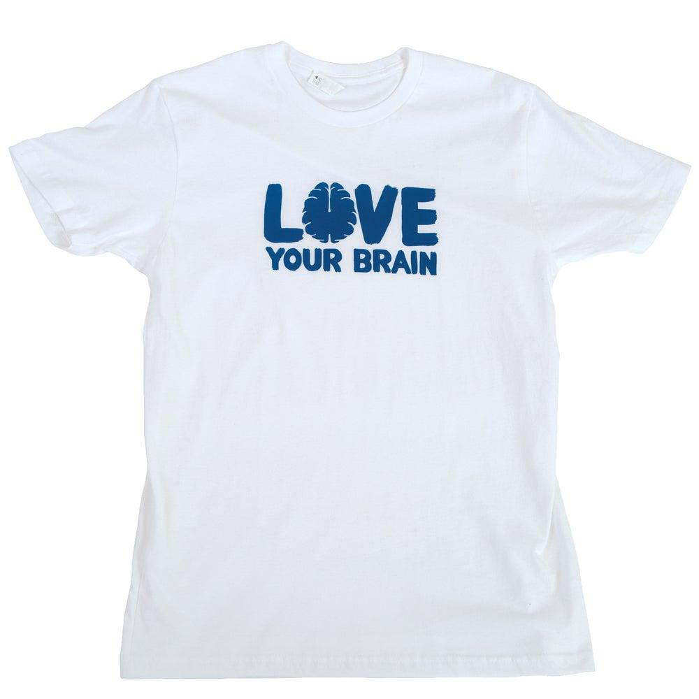 Image of LoveYourBrain T-Shirt: White