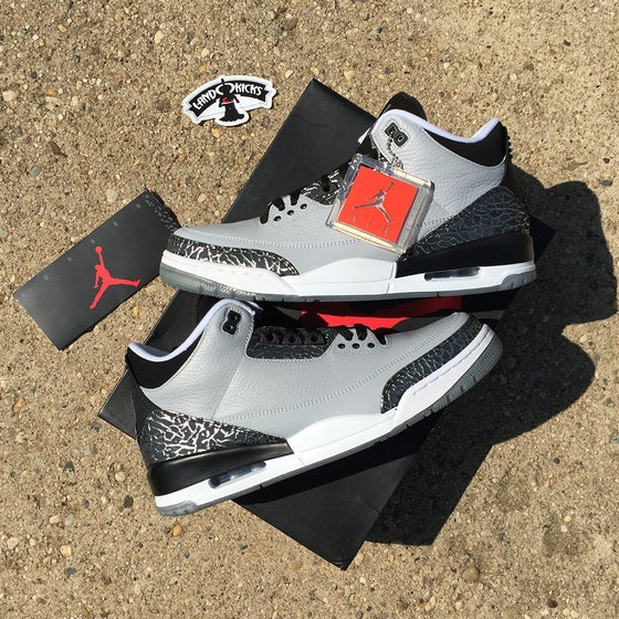 Image of Nike Air Jordan 3 Retro 'Wolf Grey'