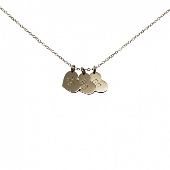 """Image of Personalised 9ct Gold """"Little heart"""" Charms Necklace"""