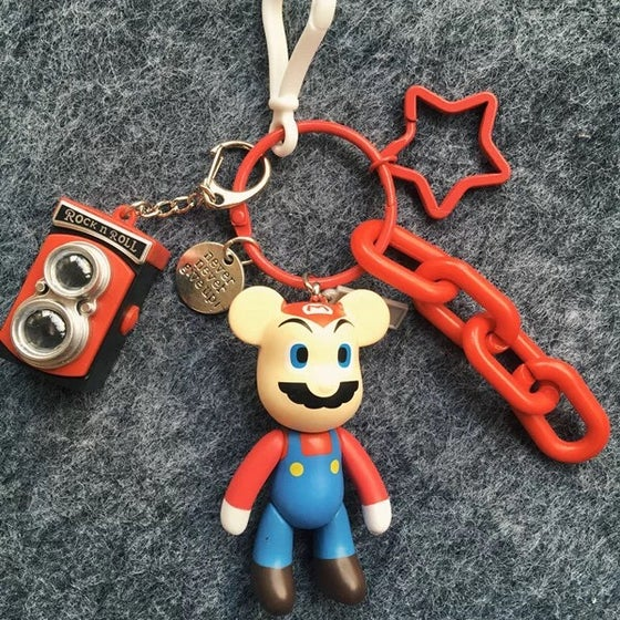 Image of Super Mario Keychain with Adorable Mix Charms