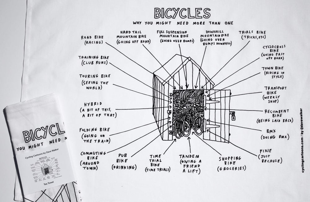 Image of 'Bicycles' Tea Towel