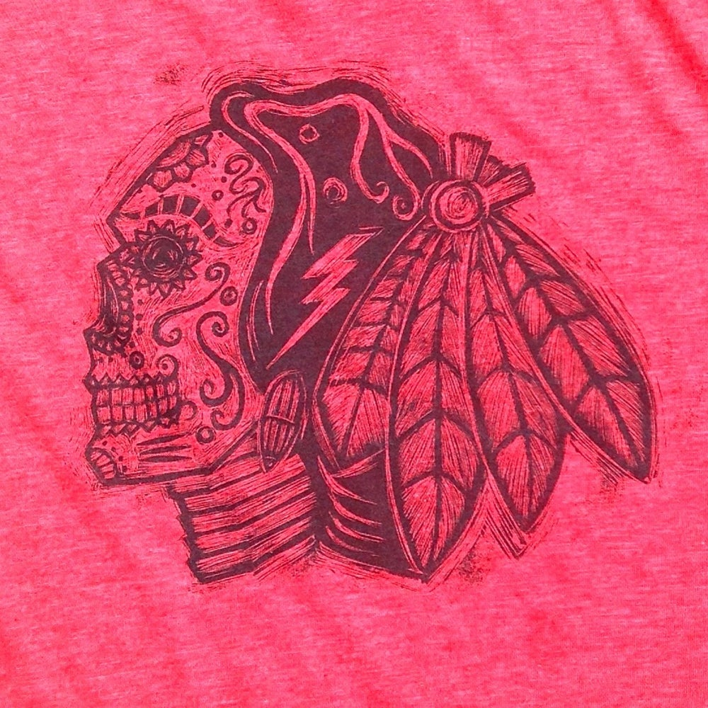 Image of Sugarskull Hawks Red Heather Tee