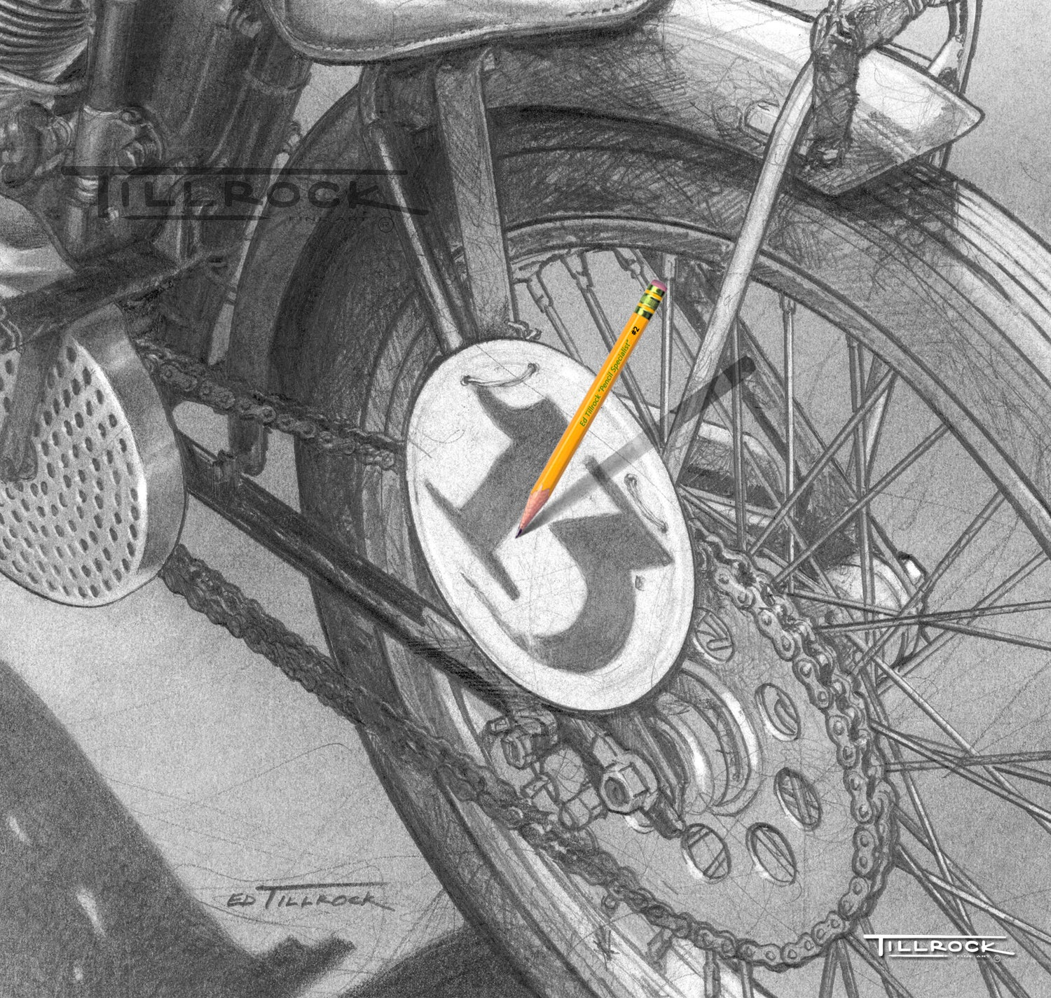 """Image of """"Brittney's '23 Board Track Racer"""" Signed & Numbered 24x24 Giclee' Print"""