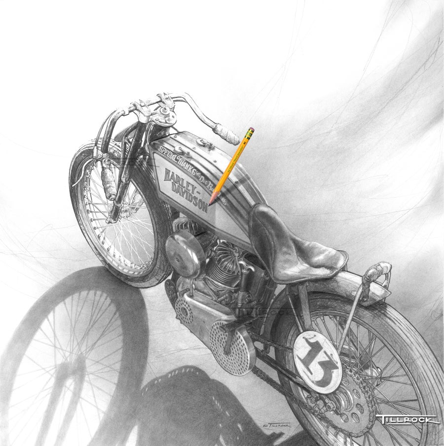 """Image of """"Brittney's '23 Board Track Racer"""" 11x17 Print"""