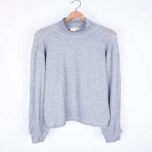 Image of Issey Miyake Men - Panelled Grey Mockneck Sweater