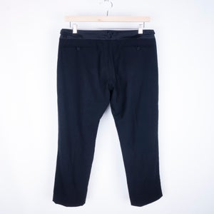 Image of Helmut Lang - Satin Waistband Tropical Wool Pants