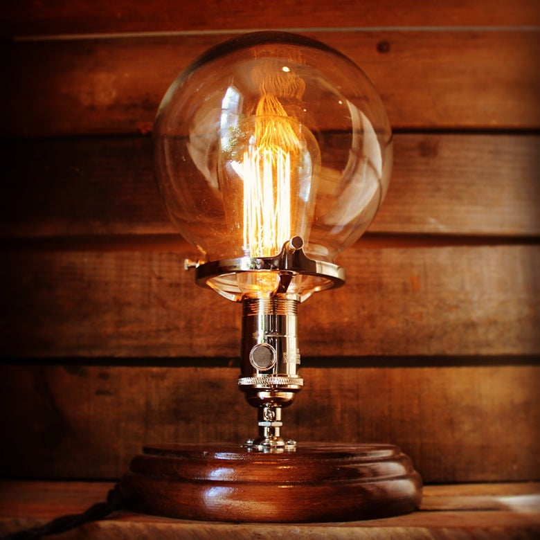 Image of Glass Globe Table Lamp