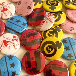 Image of Girls Club Riot Grrrl buttons!!!