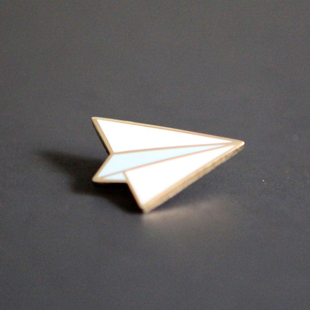 Image of Enamel Paper Airplane Pin