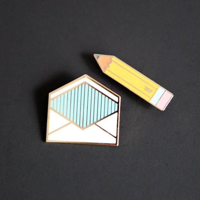 Image of Enamel Pin Correspondence Set