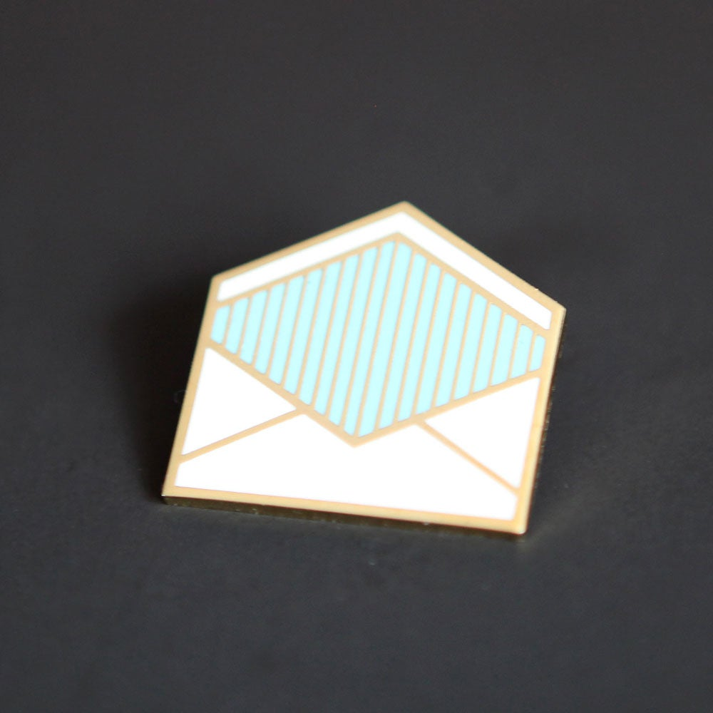 Image of Enamel Envelope Pin