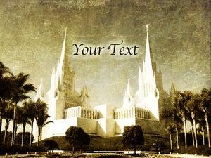 Image of San Diego LDS Mormon Temple Art 002-Personalized LDS Temple Art