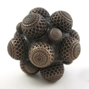 Image of Bronze Cold Casting Mini Sculpture - Mars Molecule 1