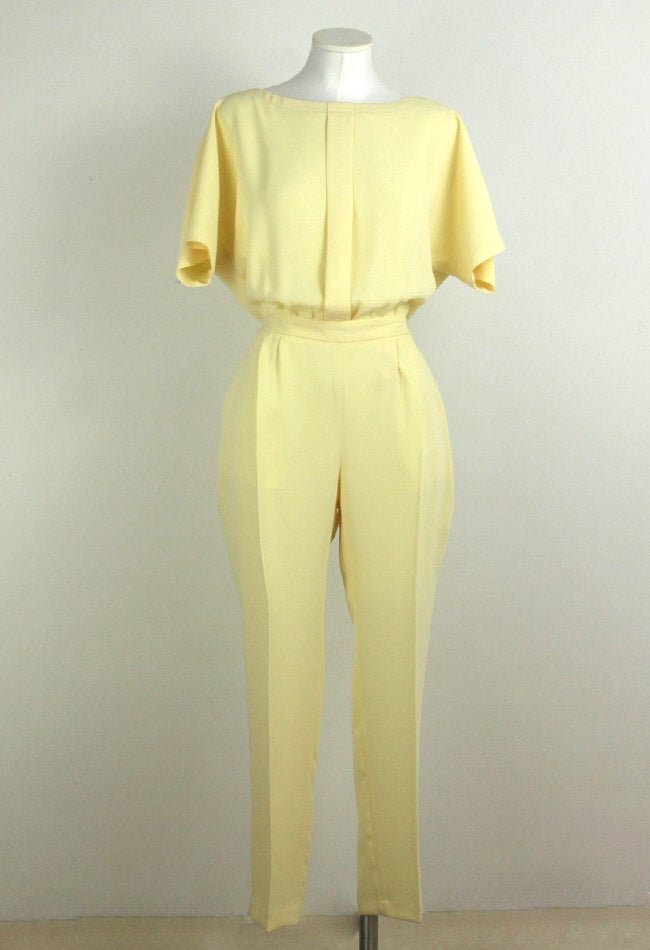 Image of YELLOW JUMPSUIT