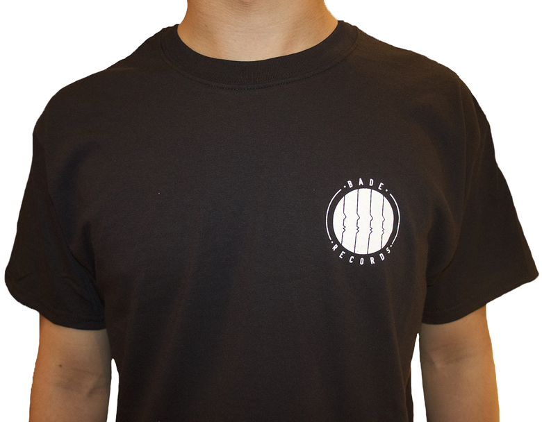 Image of Black T-Shirt with Bade Records Logo