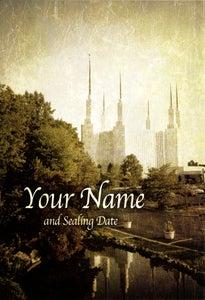 Image of Washington DC Maryland LDS Mormon Temple Art 001 - Personalized LDS Temple Art