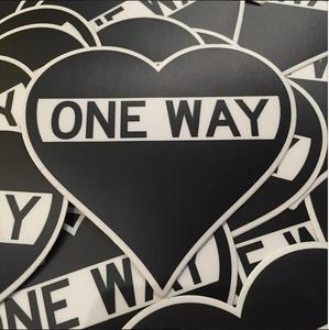 "Image of One Way Heart Sticker 2""x2"""