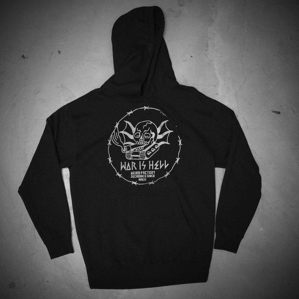 Image of TANK IS WAR BLACK HOODIE