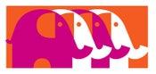 Image of  Four Elephants Fuschia - Screenprinted Mini Art Print