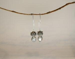 Image of Grey Baroque Earrings