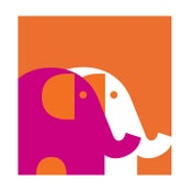 Image of Two Elephants Fuschia Silkscreen Art Print