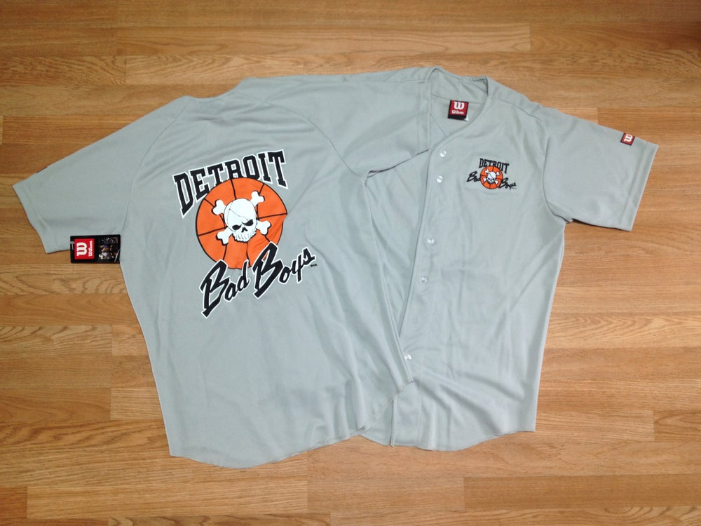 Image of Detroit Bad Boys Baseball Jersey Exclusive Limited Edition